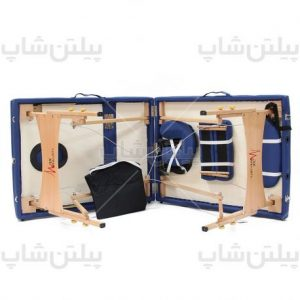 portable-massage-bed-wooden-blueتخت ماساژ