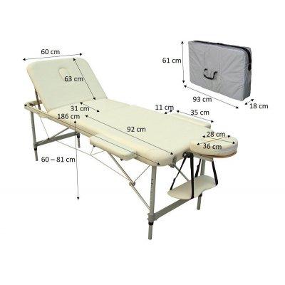 تخت ماساژ پرتابل پایه آلومینیومی-ac