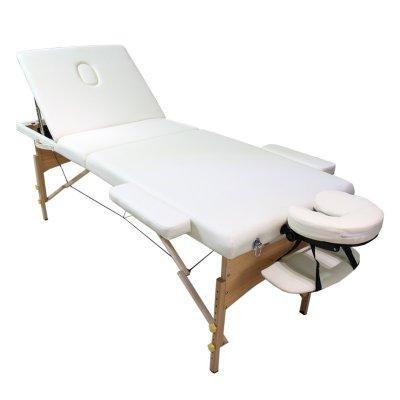 تخت ماساژ پرتابل پایه چوبی-ww