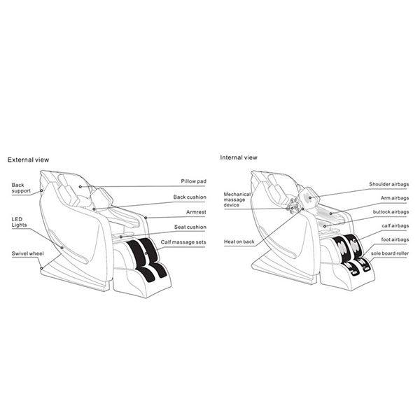 صندلی ماساژور آی ریلکس مدل iRelax L003 1