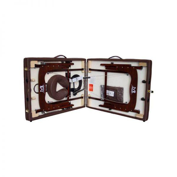 تخت ماساژ پرتابل پایه چوبی MT PER قهوه ای شکلاتی (3)
