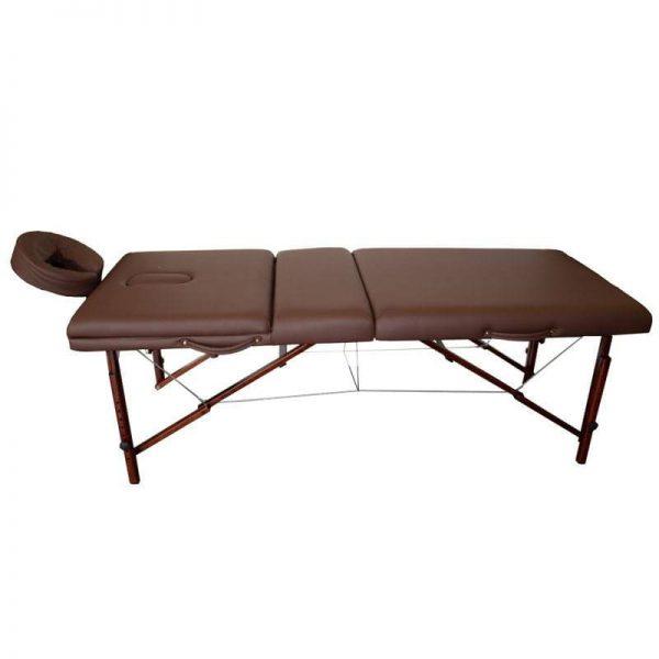 تخت ماساژ پرتابل پایه چوبی MT PER قهوه ای شکلاتی