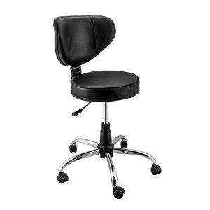 صندلی تابوره پشتی دار پایه استیل