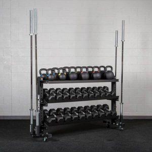 قفسه تجهیزات ورزشی پرتابل 3 طبقه PSD