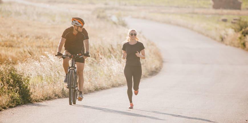 مقایسه چربی سوزی دویدن و دوچرخه سواری
